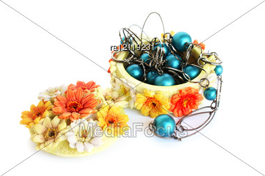 Jewelery Box With Necklace Stock Photo