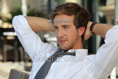 Junior Accountant Having A Break Stock Photo