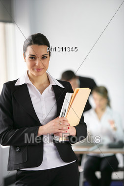 Junior Lawyer In The Office Stock Photo