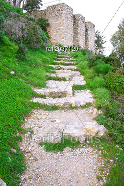 Kantara Castle In Northern Cyprus.The Origins Of The Castle Go Back To The 10th Century. Stock Photo