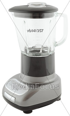 Kitchen Appliances - Gray Blender, Isolated On A White Background Stock Photo