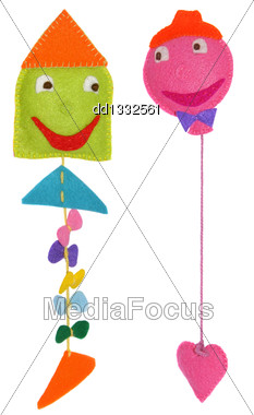 Kite And Balloon - Kids Toys Stock Photo