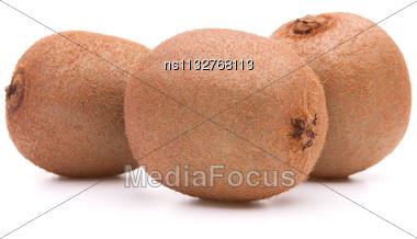 Kiwi Fruit Isolated On White Background Cutout Stock Photo