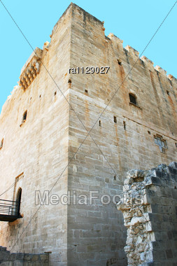 Kolossi Castle,strategic Important Fort Of Medieval Cyprus,fine Example Of Military Architecture,originally Built In 1210 By Frankish Military,rebuilt In 1454 By The Hospitallers Stock Photo