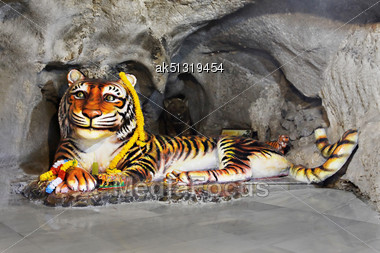 KRABI, THAILAND - APRIL 14: Tiger Cave Temple Is The Most Important Temple In Krabi On April, 14, 2011, Krabi, Thailand Stock Photo