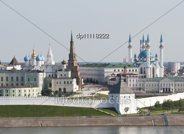 Kremlin In Kazan, Suumbike Tower Tatarstan Symbol, Russian Federation Stock Photo