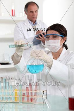 Laboratory Technicians Stock Photo