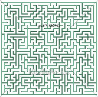Labyrinth Isolated On White Background. Kids Maze Stock Photo