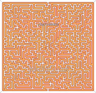 Labyrinth Isolated On White Background. Kids Maze Stock Photo