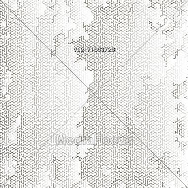 Labyrinth On White Background. Kids Maze Pattern Stock Photo
