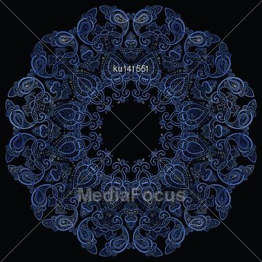 Lace Background. Beautiful Mandala. Ethnic Vector Illustration Stock Photo