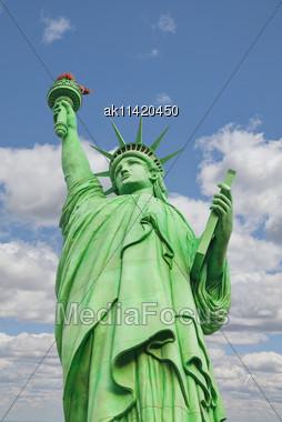 Lady Liberty Statue In Las Vegas, Nevada Stock Photo