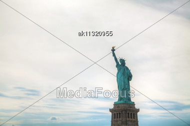 Lady Liberty Statue In New York City Stock Photo