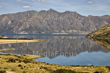 Lake Hawea New Zealand South Island Wanaka Stock Photo