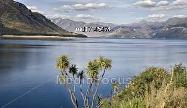 Lake Hawea New Zealand South Island Wanaka Stock Photo