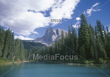 Lake In The Mountains, British Columbia, Canada Stock Photo