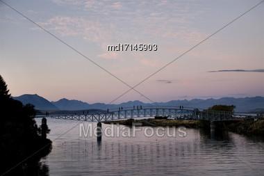 Lake Tekapo New Zealand Sunset Light On The Lake Stock Photo