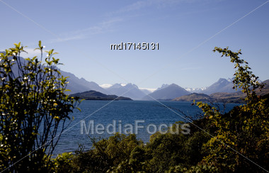 Lake Wakatipu Glenorchy Scenic Drive New Zealand Stock Photo