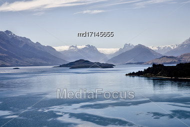 Lake Wakatipu Glenorchy Scenic Drive New Zealand Stock Photo
