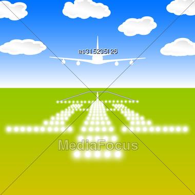 Landing Lights. Vector Illustration Stock Photo