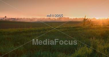 Landscape. Countryside Stock Photo