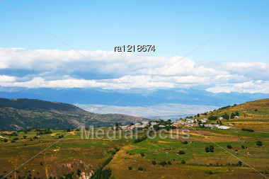 Landscape With Mountains And Clouds In Turkey. Stock Photo