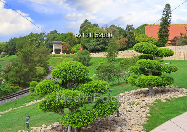 Landscape View Of The Chinese Park Stock Photo