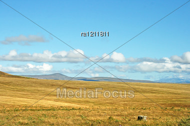 Landscape With Mountains In Armenia. Stock Photo