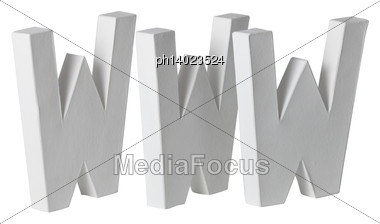 Large WWW Letters Stock Photo