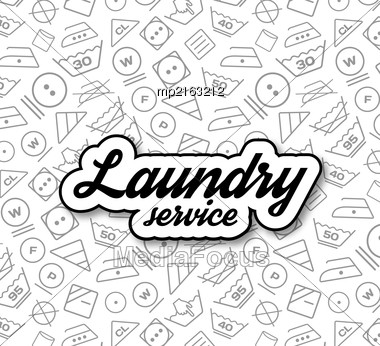 Laundry Service Vector Illustration On White Background Stock Photo