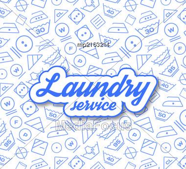 Laundry Service Vector Illustration On White Background Stock Photo