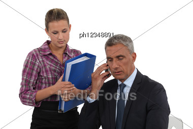 Lawyer And Assistant Stock Photo