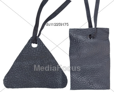 Leather Labels Stock Photo