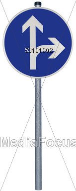 Left Turn Road Sign Stock Photo