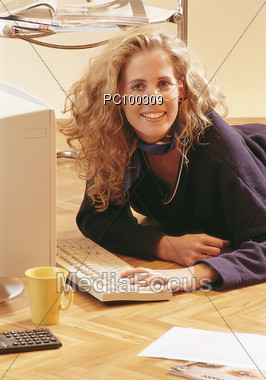 Leisure and Computers Stock Photo