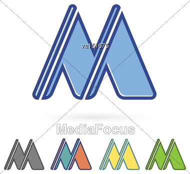 Letter M Design Vector Illustration Stock Photo