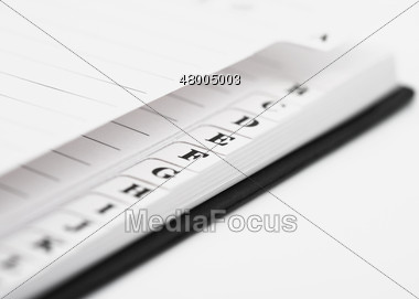 stock photo letter tabs on address book image 48005003 letter
