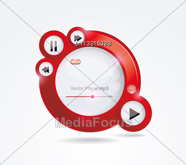 Light Web Elements: Buttons, Switchers, Player, Audio Stock Photo