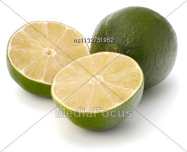 Lime Isolated On White Background Stock Photo