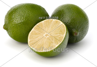Lime Isolated On White Background Stock Photo