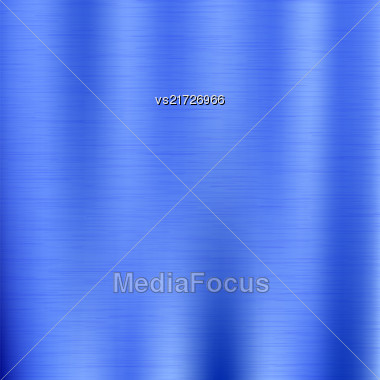 Line Grunge Background. Abstract Blue Metal Texture Stock Photo
