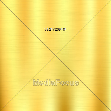 Line Grunge Background. Abstract Gold Metal Texture Stock Photo