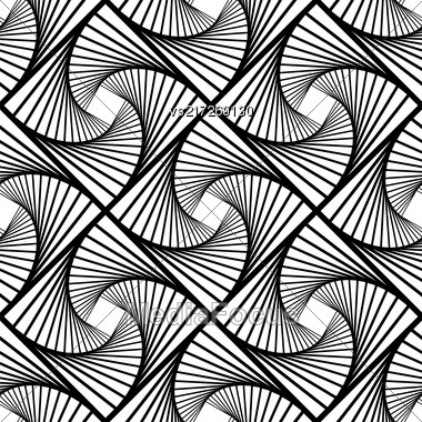 Line Seamless Background. Ornamental Endless Texture. Oriental Geometric Ornament Stock Photo