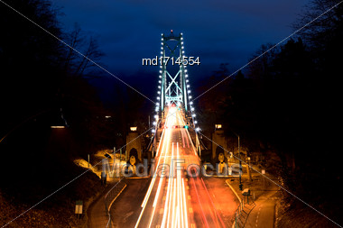 Lions Gate Bridge Vancouver British Columbia Canada Stock Photo