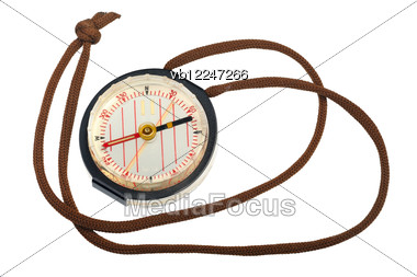 Liquid Compass For Orienteering Stock Photo