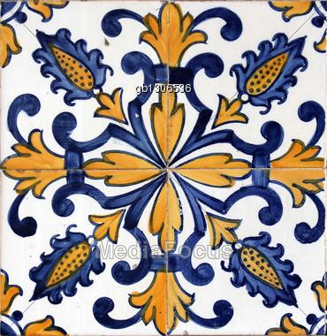 Lisbon Azulejo Stock Photo