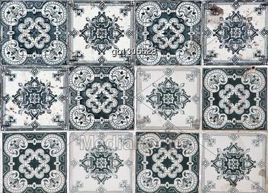 Lisbon Azulejos Stock Photo