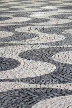 Lisbon Pavement Stock Photo