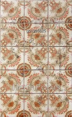 Lisbon Tiles Stock Photo