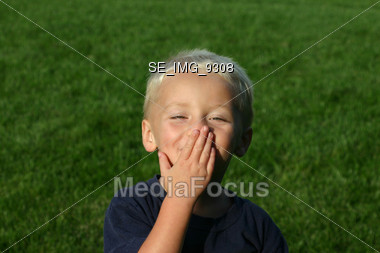 Stock photo little boy blowing a kiss image seimg9308 little little boy blowing a kiss stock photo altavistaventures Images